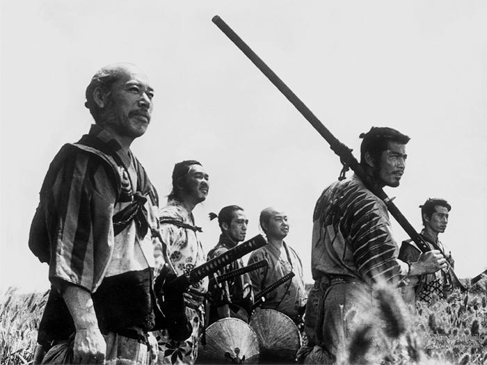 Japón bizarro-Japón Tú antes molabas Seven_samurai01_b